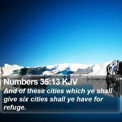 Numbers 35:13 KJV Bible Verse Image