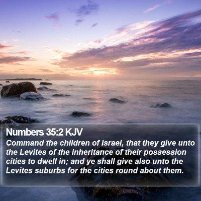 Numbers 35:2 KJV Bible Verse Image