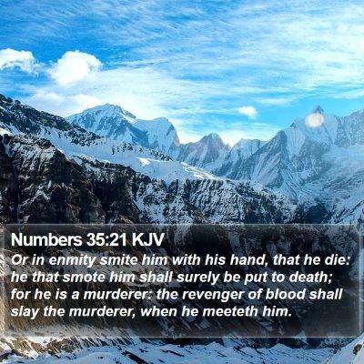 Numbers 35:21 KJV Bible Verse Image
