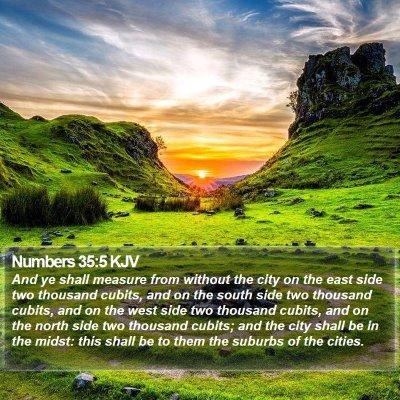 Numbers 35:5 KJV Bible Verse Image