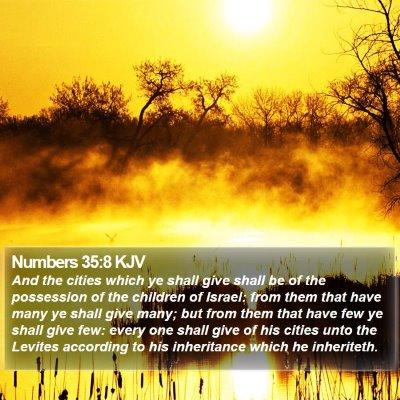 Numbers 35:8 KJV Bible Verse Image