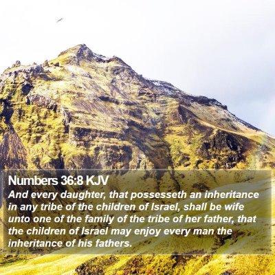 Numbers 36:8 KJV Bible Verse Image