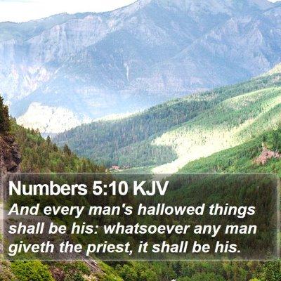 Numbers 5:10 KJV Bible Verse Image