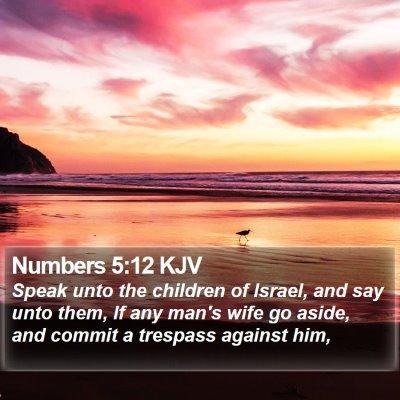 Numbers 5:12 KJV Bible Verse Image