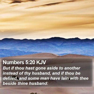 Numbers 5:20 KJV Bible Verse Image