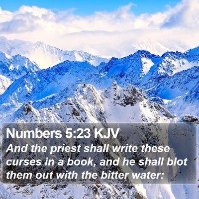 Numbers 5:23 KJV Bible Verse Image