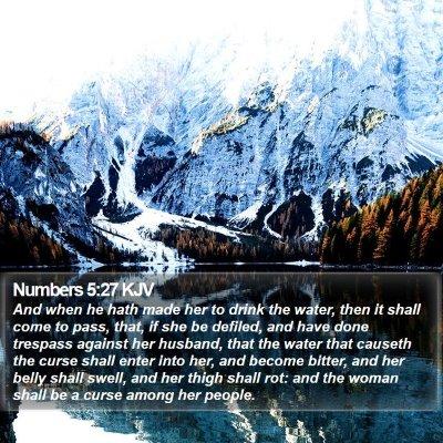 Numbers 5:27 KJV Bible Verse Image