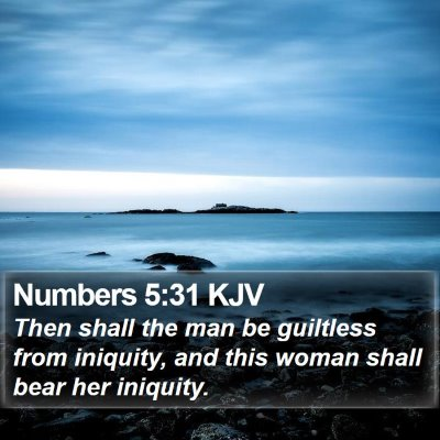 Numbers 5:31 KJV Bible Verse Image
