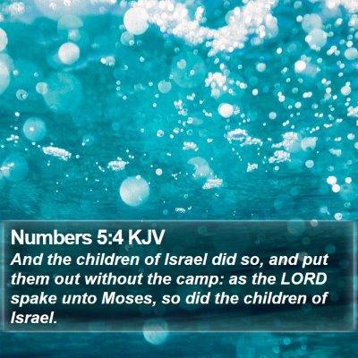 Numbers 5:4 KJV Bible Verse Image