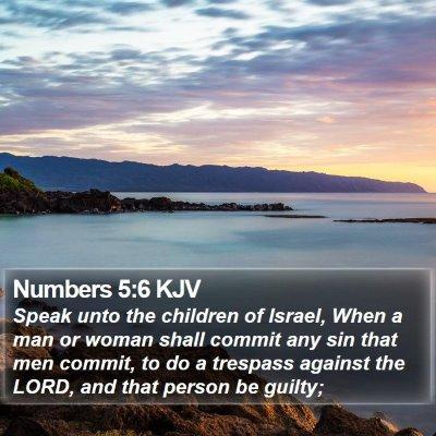 Numbers 5:6 KJV Bible Verse Image
