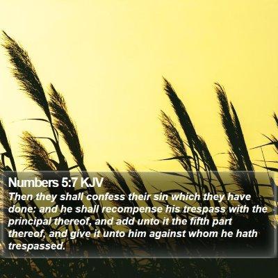 Numbers 5:7 KJV Bible Verse Image
