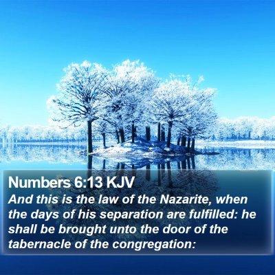 Numbers 6:13 KJV Bible Verse Image