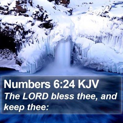 Numbers 6:24 KJV Bible Verse Image