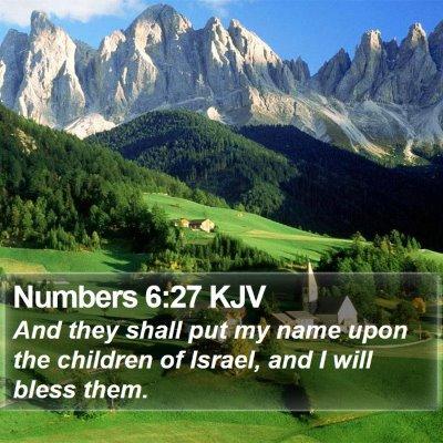 Numbers 6:27 KJV Bible Verse Image