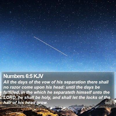 Numbers 6:5 KJV Bible Verse Image