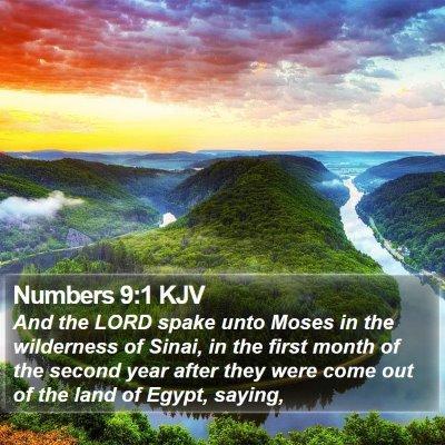 Numbers 9:1 KJV Bible Verse Image