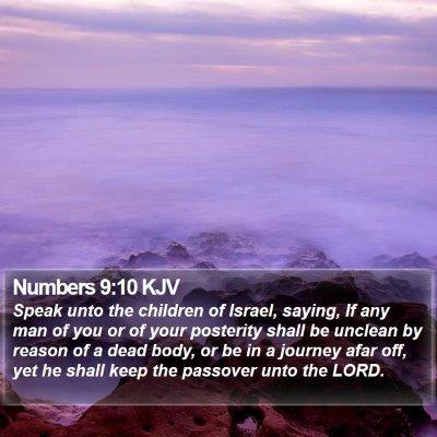 Numbers 9:10 KJV Bible Verse Image