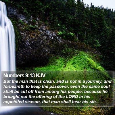 Numbers 9:13 KJV Bible Verse Image