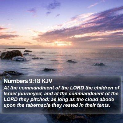 Numbers 9:18 KJV Bible Verse Image
