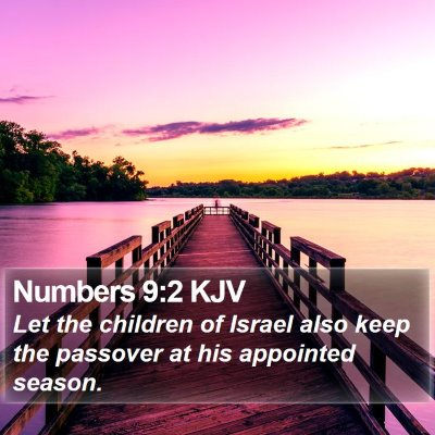 Numbers 9:2 KJV Bible Verse Image