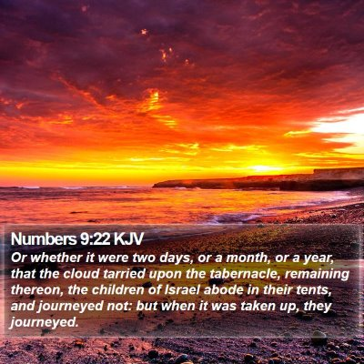 Numbers 9:22 KJV Bible Verse Image
