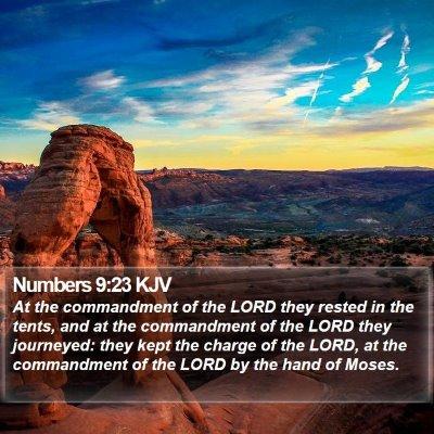 Numbers 9:23 KJV Bible Verse Image