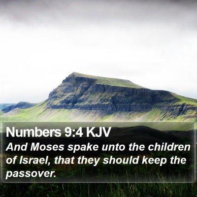 Numbers 9:4 KJV Bible Verse Image