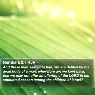 Numbers 9:7 KJV Bible Verse Image