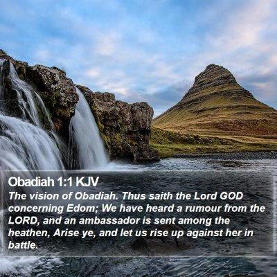 Obadiah 1:1 KJV Bible Verse Image
