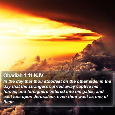 Obadiah 1:11 KJV Bible Verse Image