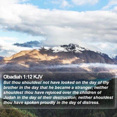 Obadiah 1:12 KJV Bible Verse Image