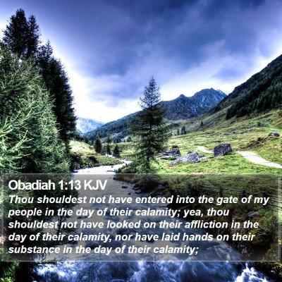 Obadiah 1:13 KJV Bible Verse Image