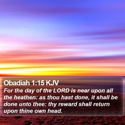 Obadiah 1:15 KJV Bible Verse Image