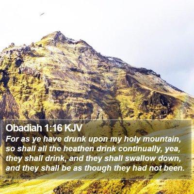 Obadiah 1:16 KJV Bible Verse Image