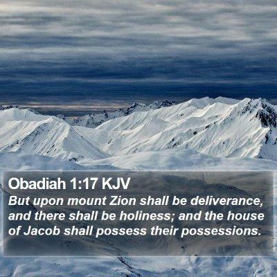Obadiah 1:17 KJV Bible Verse Image