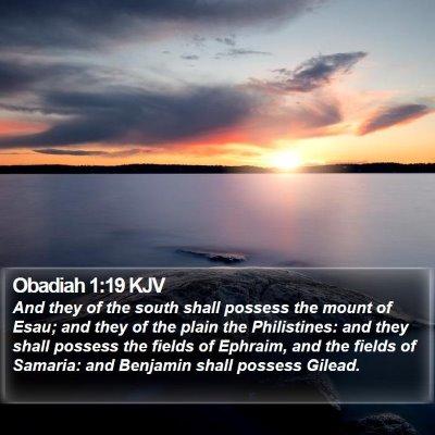 Obadiah 1:19 KJV Bible Verse Image