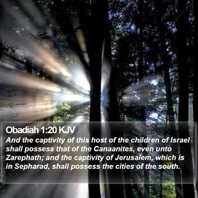 Obadiah 1:20 KJV Bible Verse Image