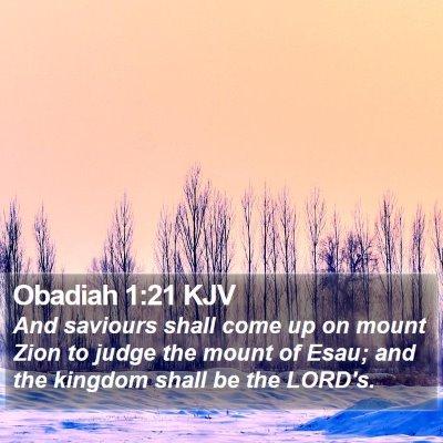 Obadiah 1:21 KJV Bible Verse Image
