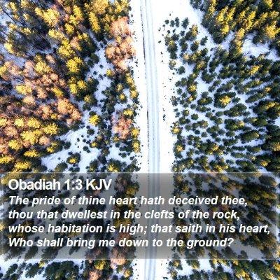 Obadiah 1:3 KJV Bible Verse Image