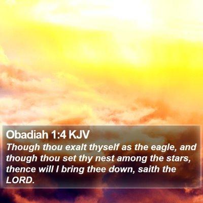 Obadiah 1:4 KJV Bible Verse Image