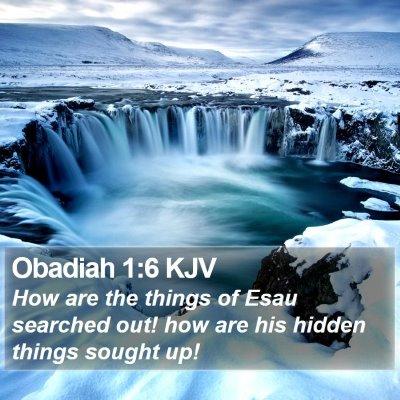 Obadiah 1:6 KJV Bible Verse Image