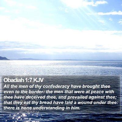 Obadiah 1:7 KJV Bible Verse Image