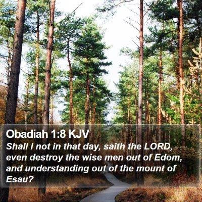 Obadiah 1:8 KJV Bible Verse Image
