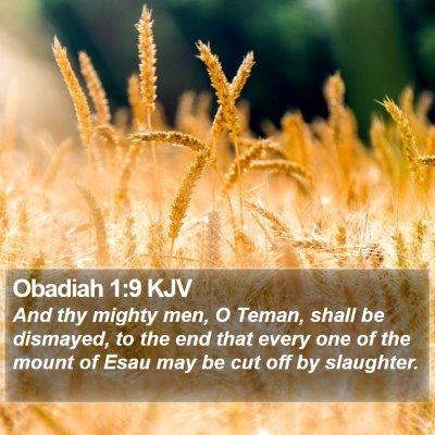 Obadiah 1:9 KJV Bible Verse Image