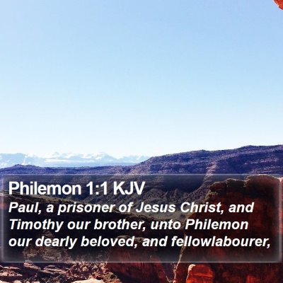 Philemon 1:1 KJV Bible Verse Image