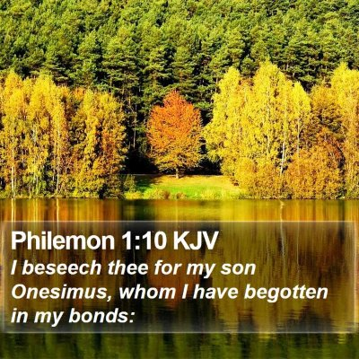 Philemon 1:10 KJV Bible Verse Image