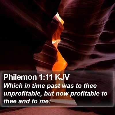 Philemon 1:11 KJV Bible Verse Image