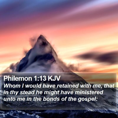 Philemon 1:13 KJV Bible Verse Image