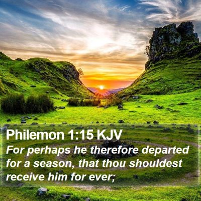 Philemon 1:15 KJV Bible Verse Image