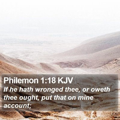 Philemon 1:18 KJV Bible Verse Image